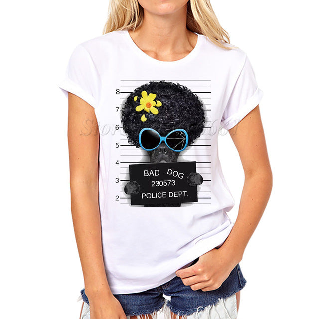 Women Fashion French Bulldog Design T shirt