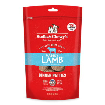 Stella & Chewy's Dandy Lamb Dinner Patties Freeze-Dried Raw Dog Food