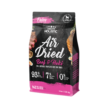 Absolute Holistic Air Dried Beef & Hoki Dog Food 1kg