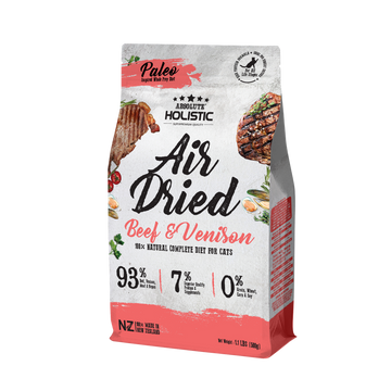 Absolute Holistic Air Dried Beef & Venison Cat Food 500g