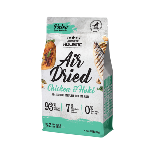 Absolute Holistic Air Dried Chicken & Hoki Cat Food 500g