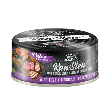 Absolute Holistic Wild Tuna & Mountain Lobster Raw Stew Cat & Dog Canned Food 80g