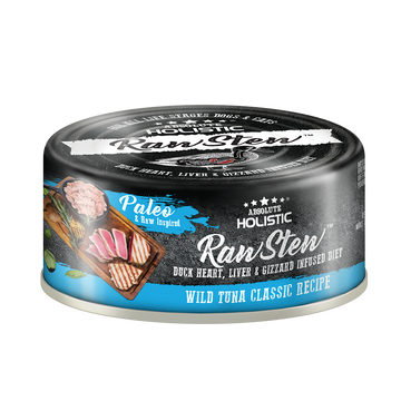 Absolute Holistic Wild Tuna Classic Raw Stew Cat & Dog Canned Food 80g