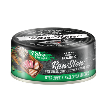 Absolute Holistic Wild Tuna & Shellfish Raw Stew Cat & Dog Canned Food 80g