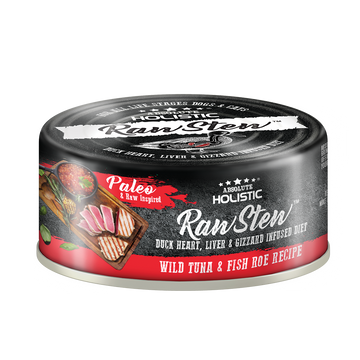 Absolute Holistic Wild Tuna & Fish Roe Raw Stew Cat & Dog Canned Food 80g