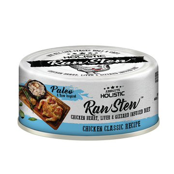 Absolute Holistic Chicken Classic Raw Stew Cat & Dog Canned Food 80g