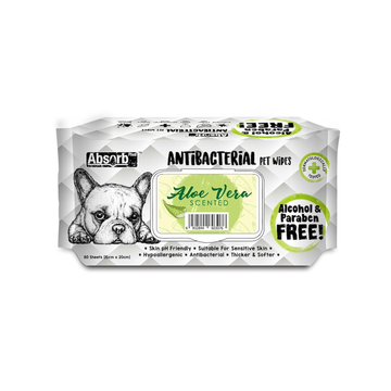 Absorb Plus Antibacterial Pet Wipes Aloe Vera (Bundle of 3)