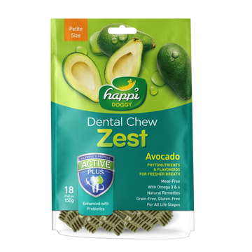 Happi Doggy Dental Chew Zest Petite Avocado (2.5 Inch)