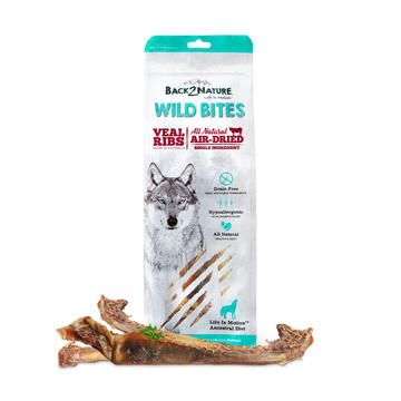 Back2Nature Wild Bites Veal Ribs Air Dried Dog Treats 125g