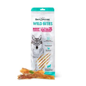 Back2Nature Wild Bites Beef Tendon Air Dried Dog Treats 125g