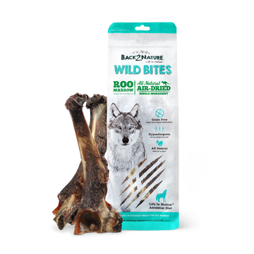 Back2Nature Wild Bites Roo Marrow Air Dried Dog Treats 2pc