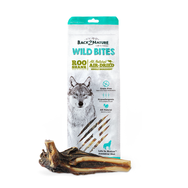 Back2Nature Wild Bites Roo Shank Air Dried Dog Treats 2pc