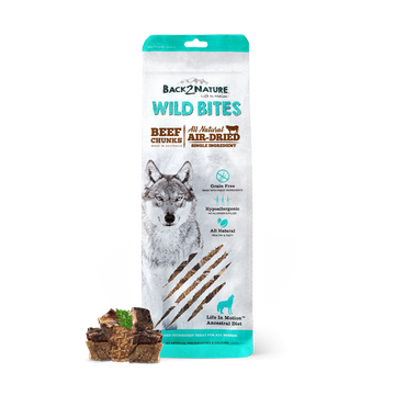 Back2Nature Wild Bites Beef Chunks Air Dried Dog Treats 150g
