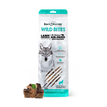 Back2Nature Wild Bites Lamb Chunks Air Dried Dog Treats 150g