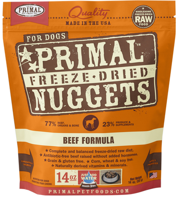 Primal Freeze-Dried Canine Beef Nuggets 14oz (Bundle Deal)