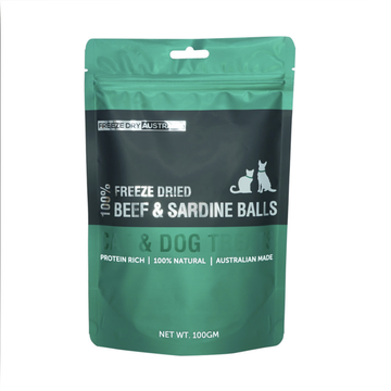 Freeze Dry Australia Freeze Dried Beef & Sardine Balls Cat and Dog Treats 100g