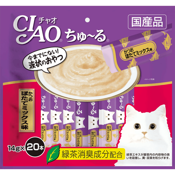 Ciao Churu Tuna & Scallop Liquid Cat Treats 280g (20pc/pack)