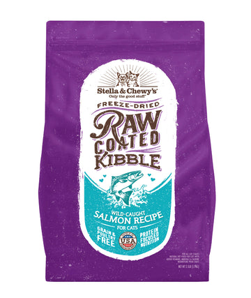 BUY 1 FREE 1: Stella & Chewy's Freeze-Dried Raw Coated Wild-Caught Salmon Dry Cat Food