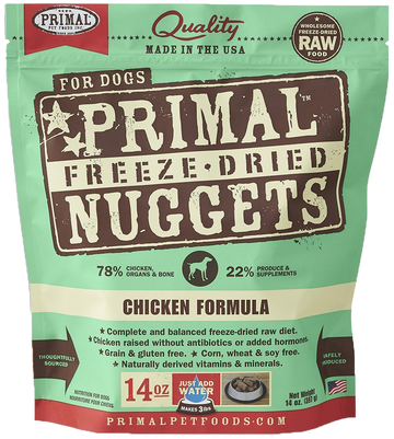 Primal Freeze-Dried Canine Chicken Nuggets 14oz (Bundle Deal)