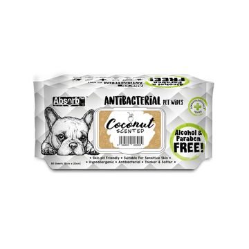 Absorb Plus Antibacterial Pet Wipes Coconut (Bundle of 3)