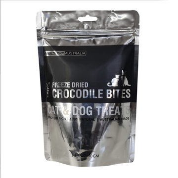 Freeze Dry Australia Freeze Dried Crocodile Bites Cat and Dog Treats 70g