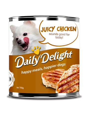 Daily Delight Juicy Chicken Canned Dog Food