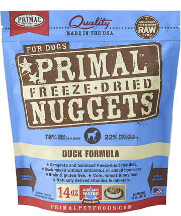 Primal Freeze-Dried Canine Duck Nuggets 14oz (Bundle Deal)