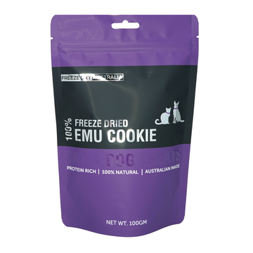 Freeze Dry Australia Freeze Dried Emu Cookie Cat and Dog Treats 100g