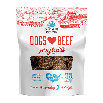 2 for $19.90: Farmland Traditions Dogs Love Beef Jerky Dog Treats 5oz