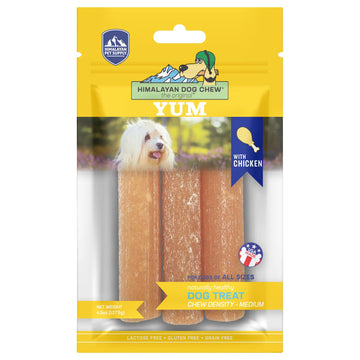 Himalayan Pet Supply Yum Cheese with Chicken Dog Chew Medium Density Treats