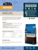 ACANA Heritage Adult Dry Dog Food