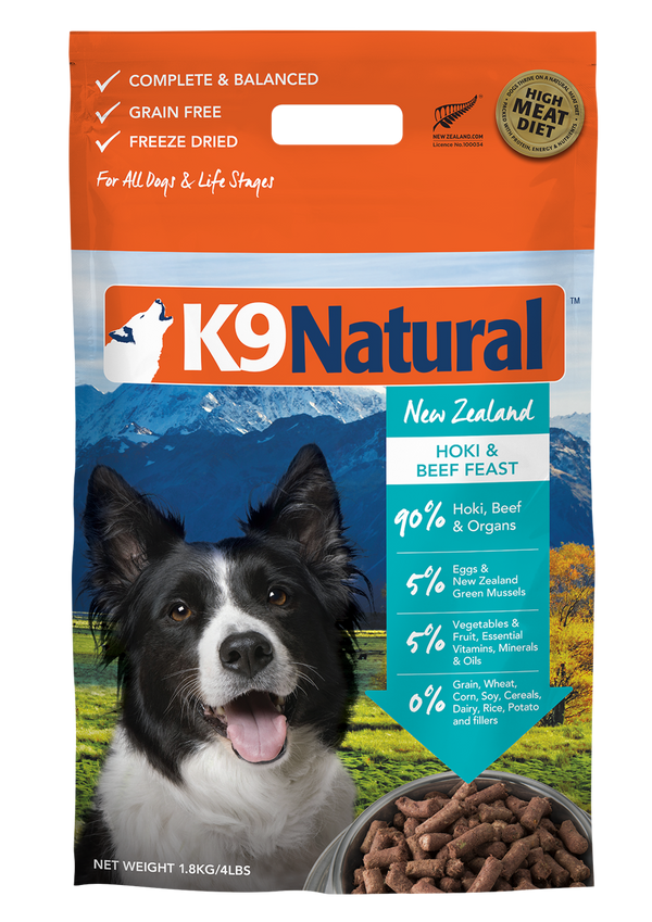 K9 Natural Freeze Dried Hoki & Beef Dog Food
