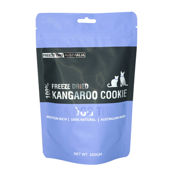 Freeze Dry Australia Freeze Dried Kangaroo Cookie Cat and Dog Treats 100g