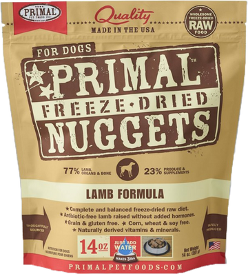 Primal Freeze-Dried Canine Lamb Nuggets 14oz (Bundle Deal)