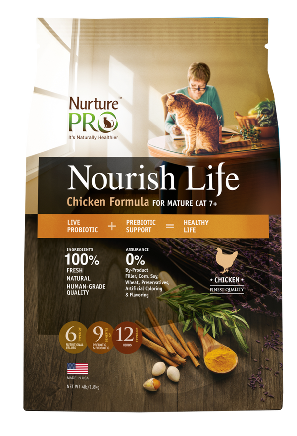 Nurture Pro Nourish Life Chicken Formula Mature 7+ Dry Cat Food