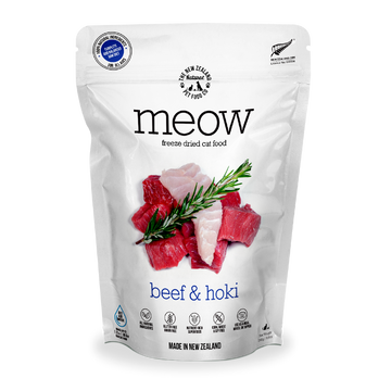 Meow Freeze Dried Raw Beef & Hoki Cat Food 280g