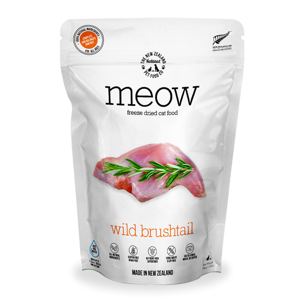 Meow Freeze Dried Raw Wild Brushtail Cat Food 280g