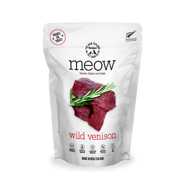 Meow Freeze Dried Raw Wild Venison Cat Treats 50g