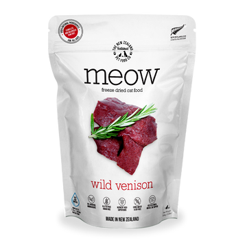 Meow Freeze Dried Raw Wild Venison Cat Food 280g