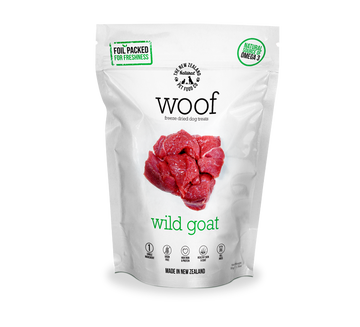 Woof Freeze Dried Raw Wild Goat Dog Treats 50g