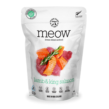Meow Freeze Dried Raw Lamb & King Salmon Cat Food 280g