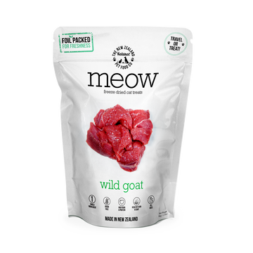 Meow Freeze Dried Raw Wild Goat Cat Treats 50g