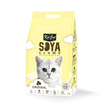 Kit Cat Soya Clump Cat Litter Original 7L (Bundle of 6)