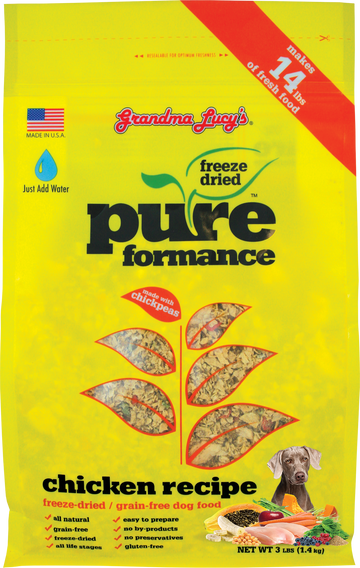 Grandma Lucy's Pureformance Chicken Grain-Free Freeze Dried Dog Food
