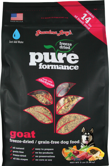 Grandma Lucy's Pureformance Goat Grain-Free Freeze Dried Dog Food