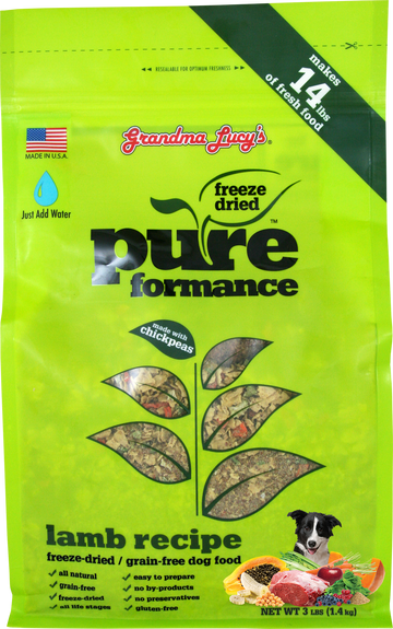 Grandma Lucy's Pureformance Lamb Grain-Free Freeze Dried Dog Food