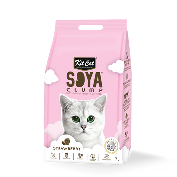 Kit Cat Soya Clump Cat Litter Strawberry 7L (Bundle of 6)
