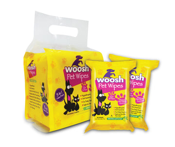 Woosh Pet Wipes Value Pack 20 Sheets x 3 Packs