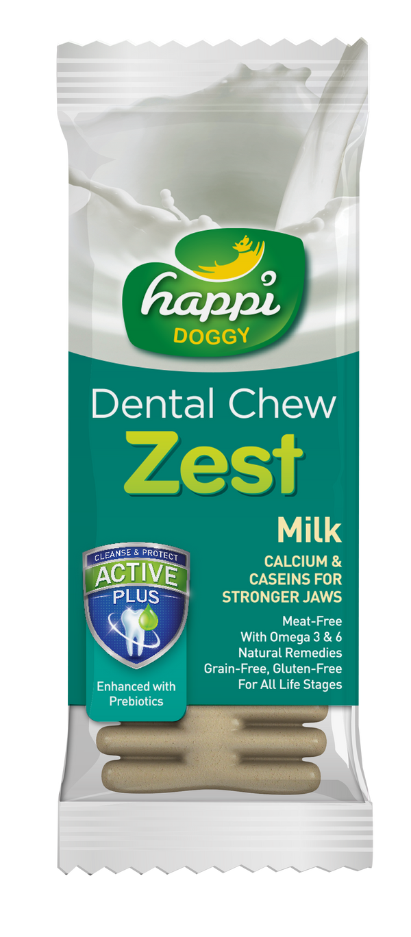 Happi Doggy Dental Chew Zest Milk (4 Inch)