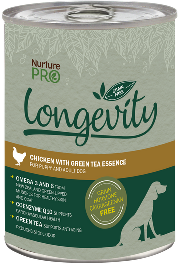 Nurture Pro Longevity Grain Free Chicken with Green Tea Essence Canned Dog Food 375g